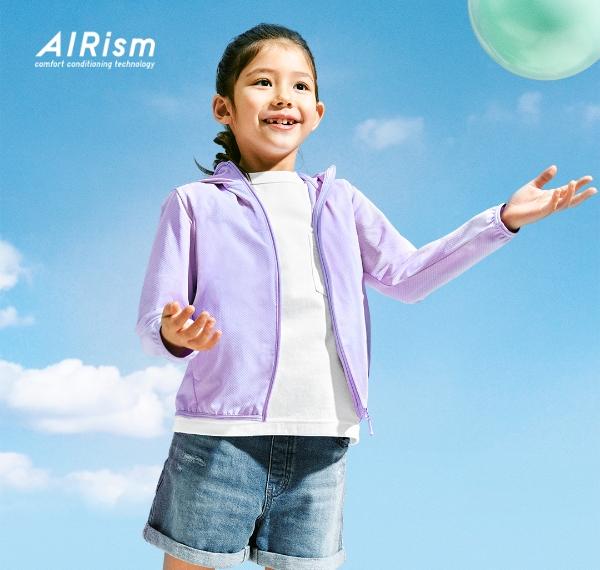 AIRism UV PROTECTION 메쉬 후디