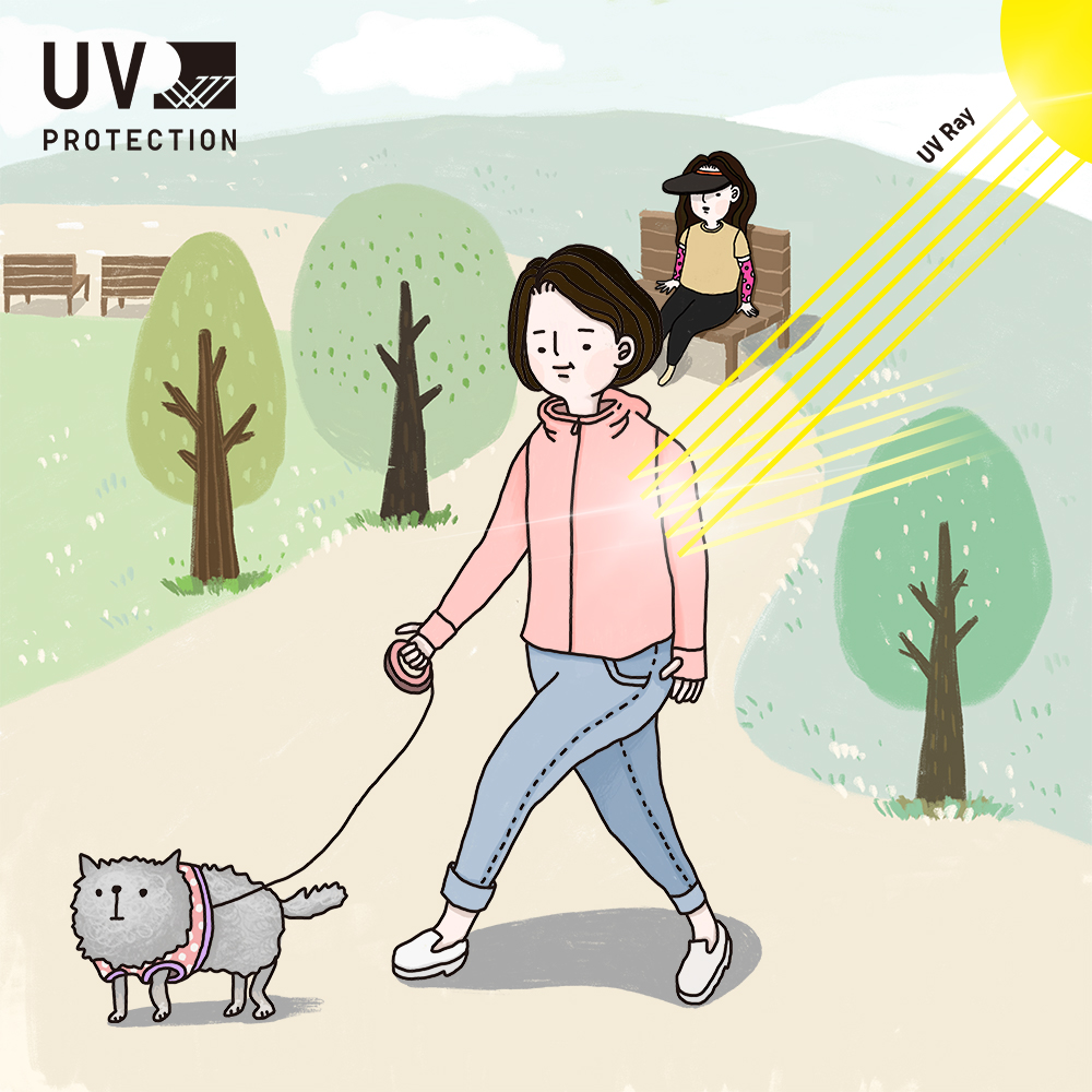 자외선이 강한 날에도 산책이 필요할 때