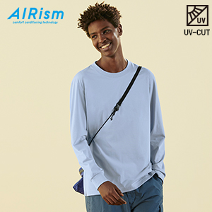 AIRism UV-CUT크루넥T