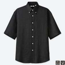 U프리미엄리넨와이드피트셔츠(반팔)