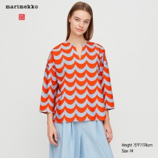 Marimekko리넨블렌드셔츠(7부)