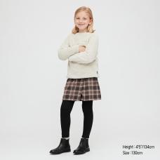 GIRLS플란넬체크스커트팬츠