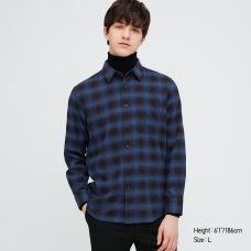 플란넬체크셔츠(긴팔·레귤러칼라)H
