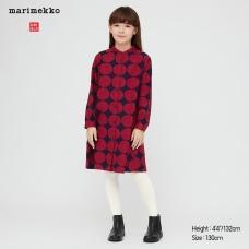 GIRLS Marimekko플란넬원피스(긴팔)B