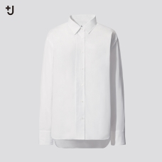 +J SUPIMA COTTON오버사이즈셔츠(긴팔)