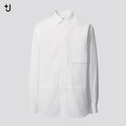 +J SUPIMA COTTON오버사이즈셔츠(긴팔·히든버튼다운칼라)