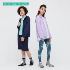 KIDS AIRism UV PROTECTION메쉬후디(긴팔)