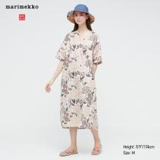 Marimekko리넨블렌드카프탄원피스(반팔)