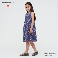 GIRLS Marimekko저지슬리브리스원피스B
