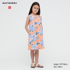 GIRLS Marimekko저지슬리브리스원피스C
