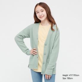 GIRLS수플레얀V넥롱가디건(긴팔)