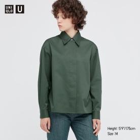 U코튼새틴셔츠재킷(긴팔)